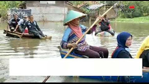Pemdes Jalan Cagak Salurkan Bantuan Tahap ke - 5 Pada Korban Banjir Pantura