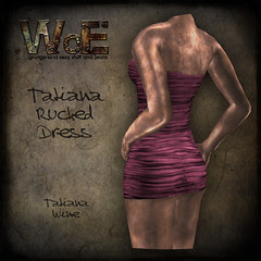 Tatiana Ruched Dress - Wine