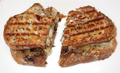 Gourmet Cheese, Tomato & Carmelized Onion Panini
