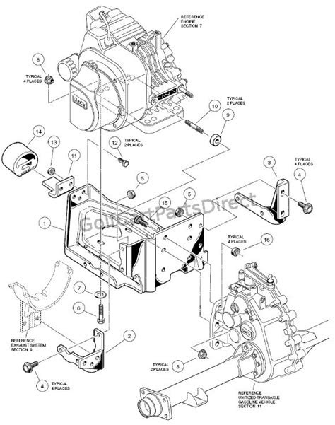 Engine Mounting - Club Car parts & accessories