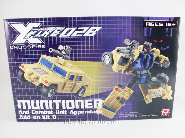 Transformers Munitioner FansProject - caja
