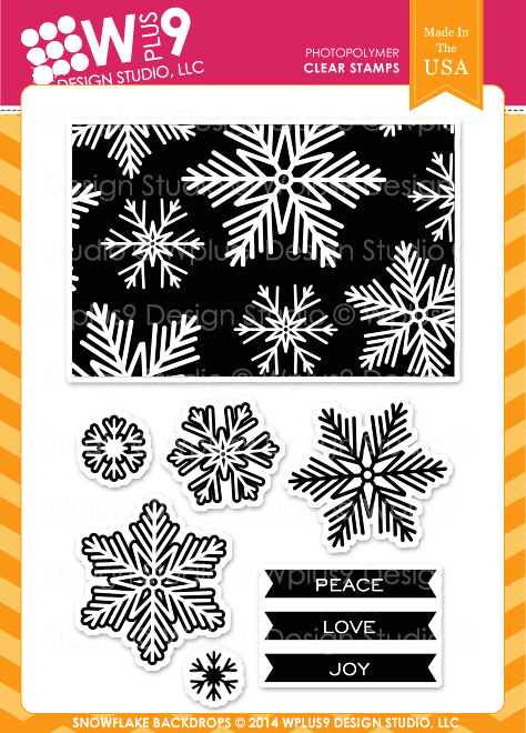 Wplus9 Snowflake Backdrops Stamp