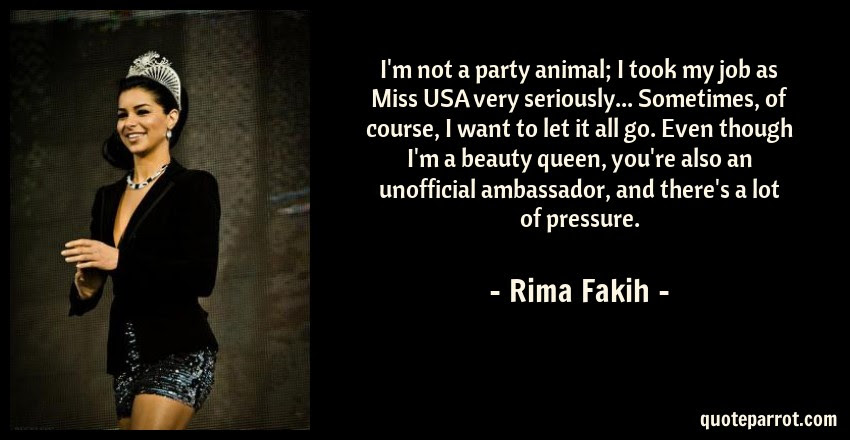 Im Not A Party Animal I Took My Job As Miss Usa Very By Rima
