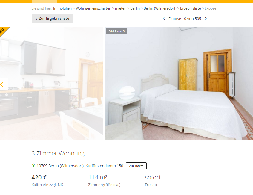3 zimmer wohnung 10709 berlin wilmersdorf kurf rstendamm 150 - 6 zimmer wohnung berlin ...