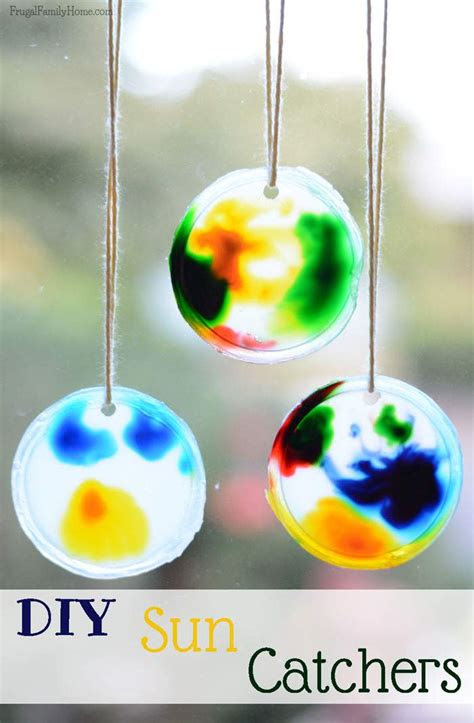 sun catcher crafts  kids frugal family home