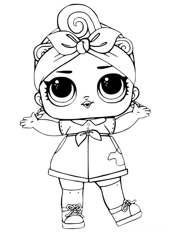 Lol Surprise Dolls Coloring Pages Coloring Page