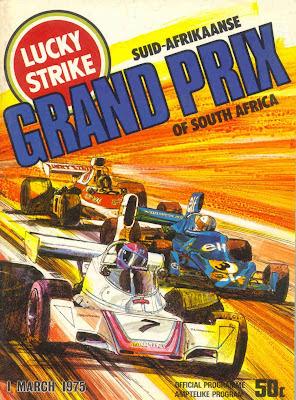 Capa do programa oficial do GP sulafricano de 1975