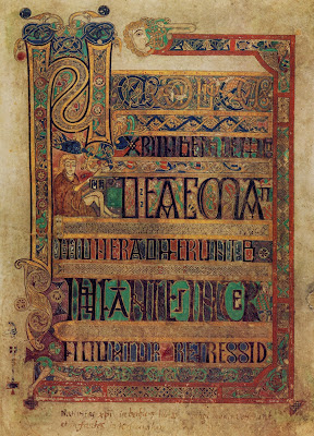 page from the book of Kells