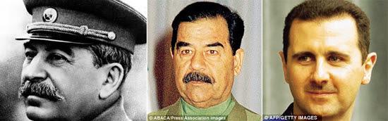 Bashar al-Assad, Stalin and Hussein