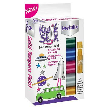 Kwik Stix® Tempera Painting Kit, 3pk - 18 Metallic Colors
