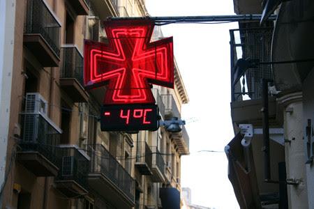 El termómetro de la plaza de la Paeria de Lleida indicaba -4ºC la mañana del sábado.