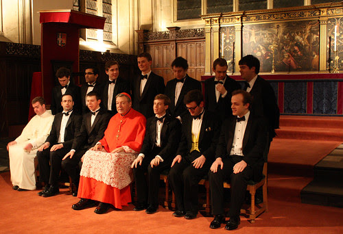 Cardinal Pell with Newman Society committee