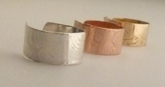 Gift Set Ear Cuff Sterling Silver Solid Brass Pure Copper One of each