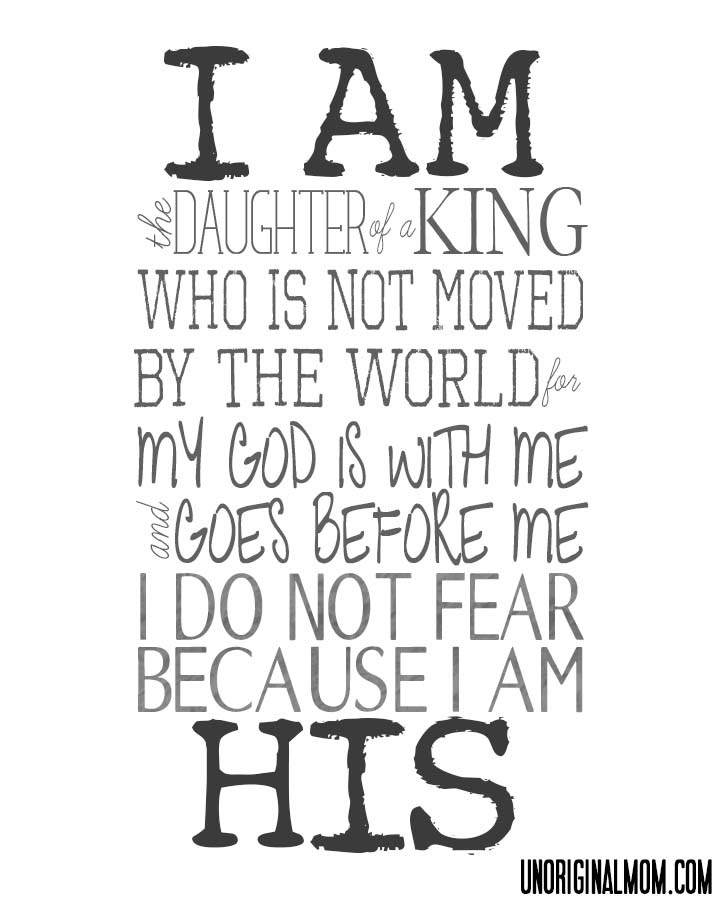 Free Printable I Am His Unoriginal Mom