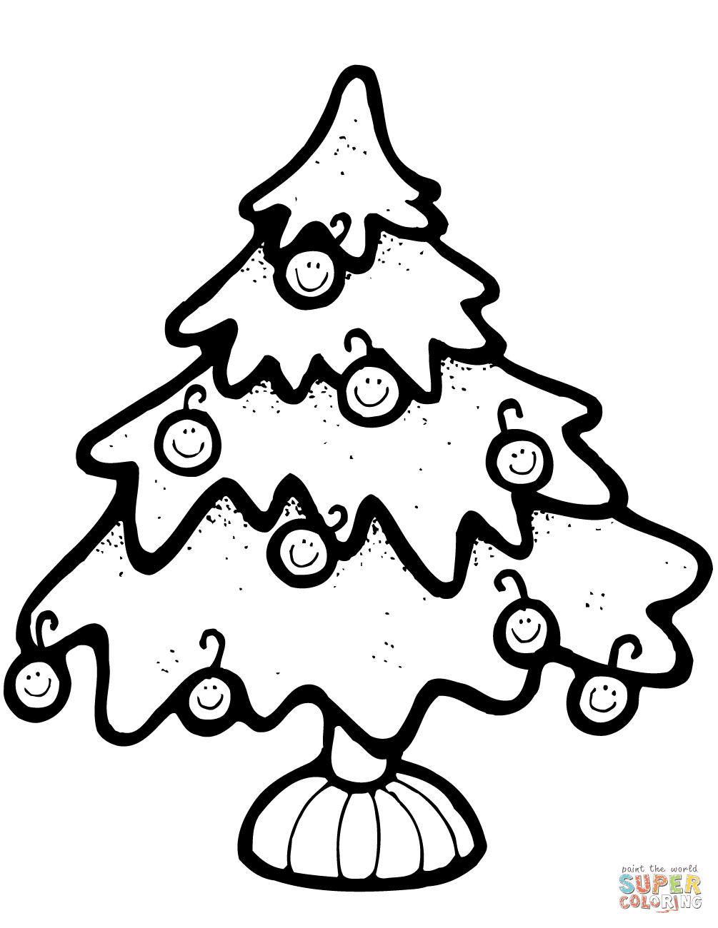 Xmas Tree Coloring Pages | Free download on ClipArtMag