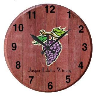 Customizable Wine Barrel Top Round Wall Clock