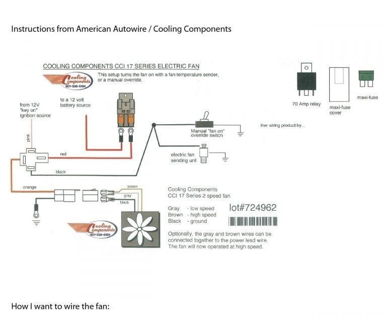 Wiring Diagram Radiator Electric Fan