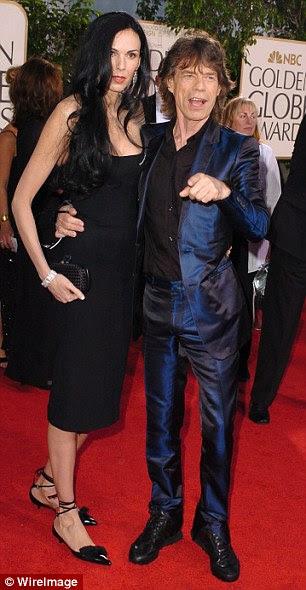 Sir Mick e Ms Hamrick começou a namorar após o suicídio do estilista L'Wren Scott (foto), em 2014, sócio de 13 anos de Sir Mick