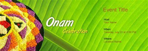 Free Onam invitation with India?s #1 online tool