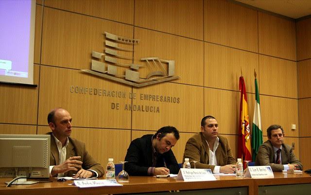 Rodrigo Ponce de Leon, Javier Barrera, Juan Benitez y Pedro Ybarra