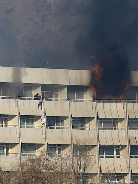 Afghanistan Angriff auf Intercontinental Hotel in Kabul (Reuters/O. Sobhani)