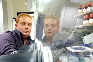 Prof. Taleb Mokari in his lab. Photo courtesy of BGU