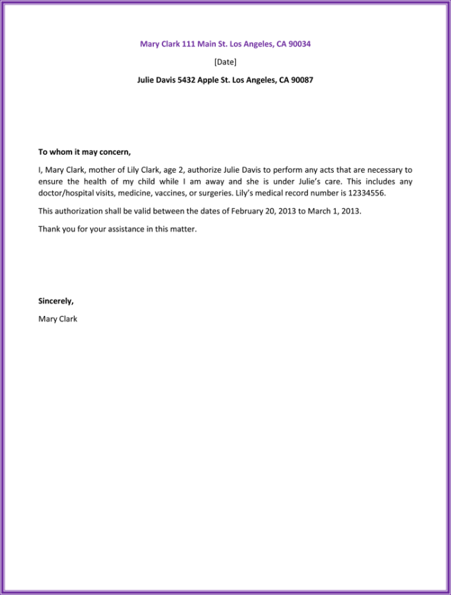Sample Letter Of Authorization Form | 53 Free Download Sample Authorization Letter For Authentication Of