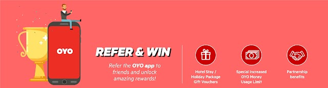 Refer Oyo room and earn paytm cash+ Oyo money