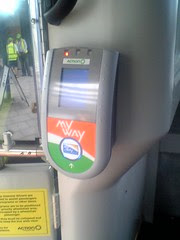 Canberra ACTION Bus MyWay contact-less smart card ticket reader