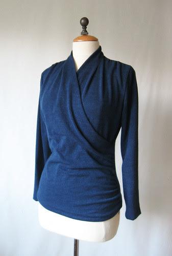 Wrap top sweaterknit
