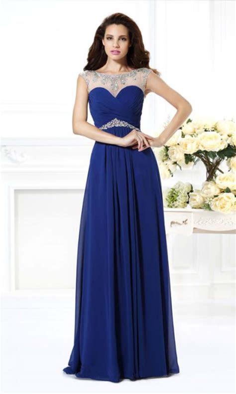Blue Illusion Long Lace Prom Dresses UK KSP346 [KSP346