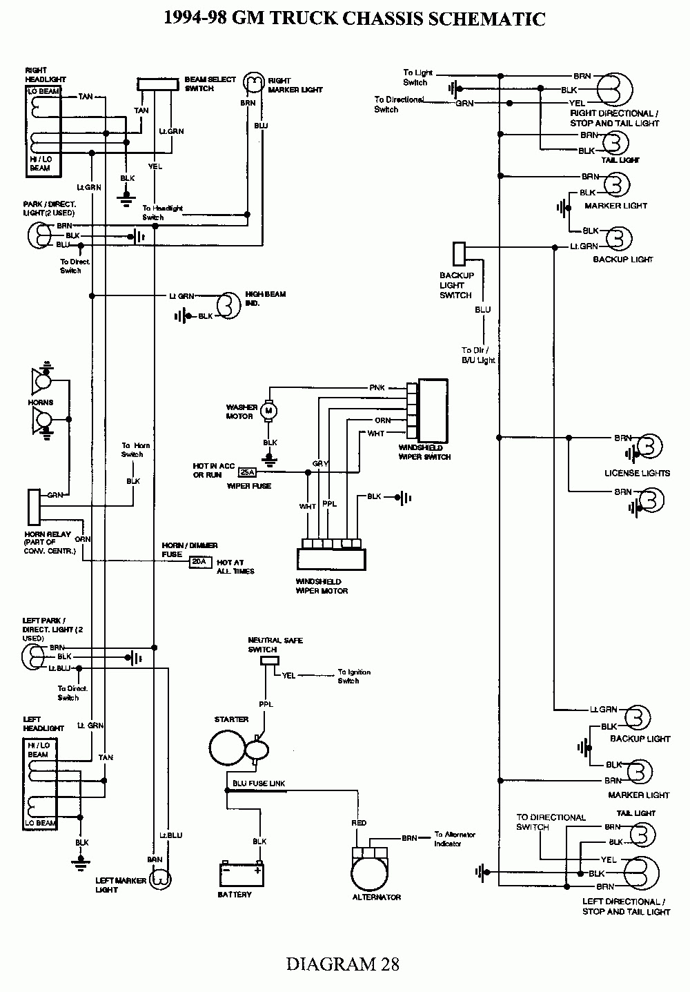 29 Blazer Trailer Lights Wiring Diagram