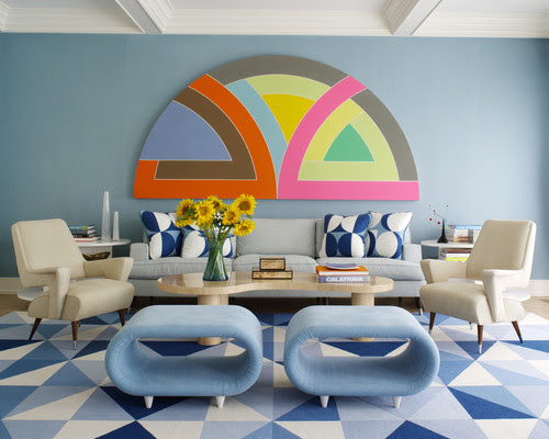 Midcentury Living Room by New York Interior Designers & Decorators Anthony Baratta LLC