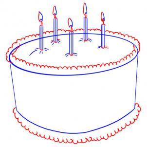 How To Draw A Cake 8 Steps With Pictures Wikihow