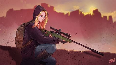 pubg game girl fanart laptop hd hd  wallpapers