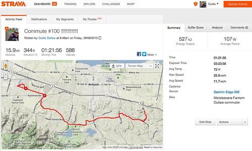 100th bike commute