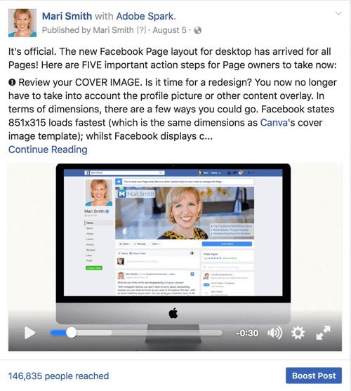 useful facebook video example