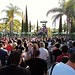 The crowds on Star Tours' opening day