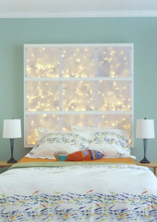 excellent idea for teen headboard