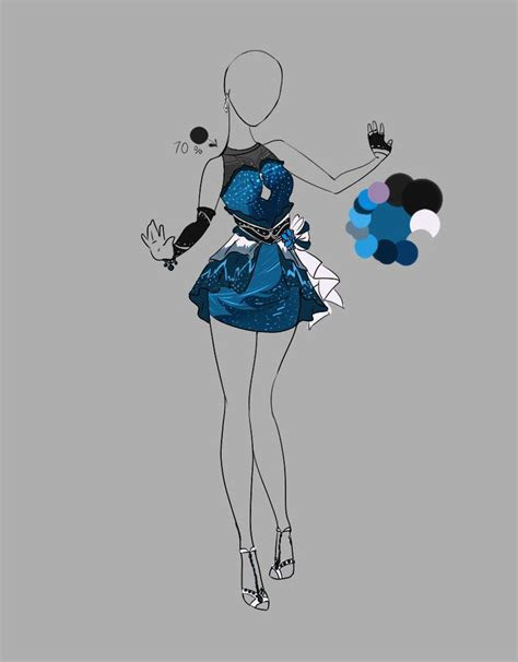 deviantart dress design outfit outfit adopt closed