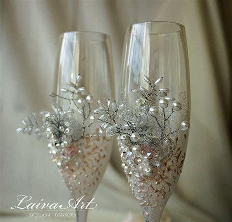 Wedding Champagne Flutes Wedding Champagne Glasses White