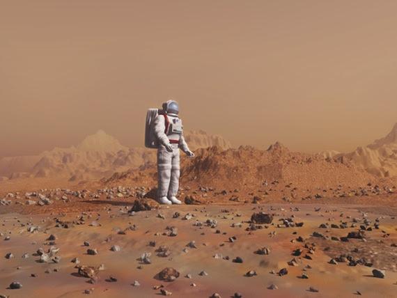 A los primeros exploradores marcianos les espera un futuro que rayará en lo solitario. Foto: Shutterstock