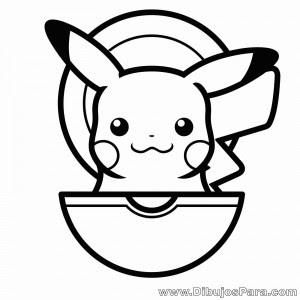 Dibujo De Pikachu En Pokebola Dibujos Para Colorear