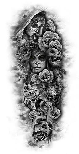 Tattoo Ideas Skulls 12 3209b000248d1c5536ab0a0e09b2beb0 Sleeve