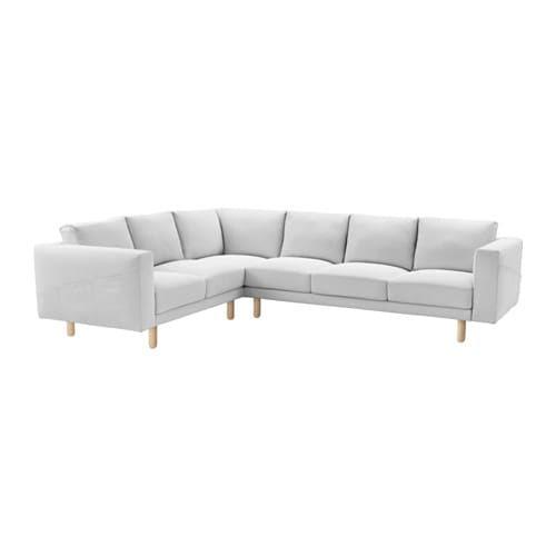 NORSBORG Corner sofa, 5-seat - Finnsta white, birch - IKEA