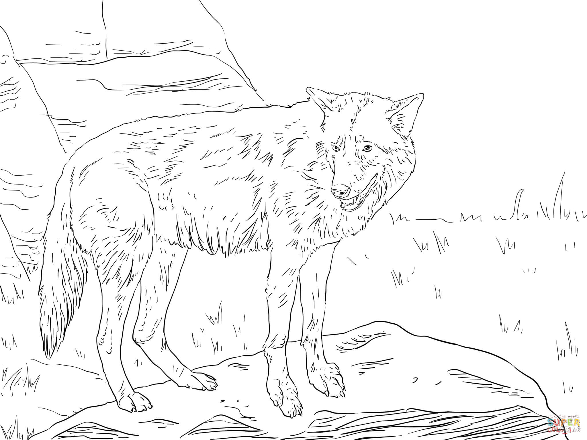 Eastern Wolf coloring page | Free Printable Coloring Pages