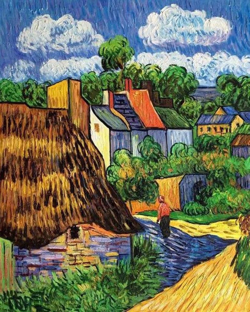 Houses In Auvers 1890 By Vincent Van Gogh Van Go Paint By Number Ki