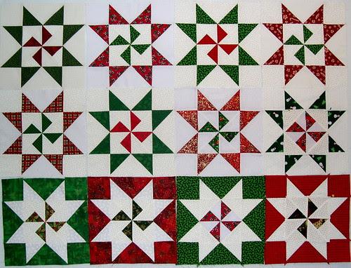 Christmas Pinwheel Stars