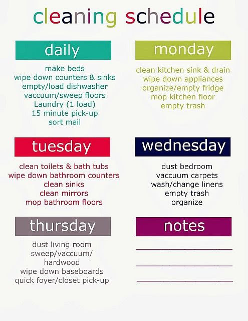 1000+ ideas about Monthly Cleaning Schedule on Pinterest | Home ...