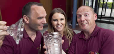 Pictured NUI Galway Engineering students Justin Conboy and Dearbhaile Forde, with fellow student Garrett Archbold.